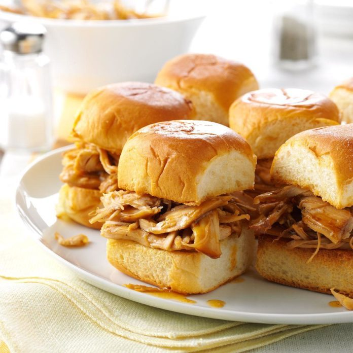 Instant Pot Mini Teriyaki Turkey Sandwiches