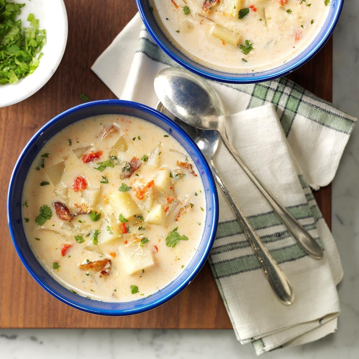 Pressure-Cooker Potato Soup Recipe | Taste of Home