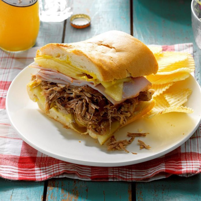Pressure Cooker Cuban Pulled Pork Sandwiches