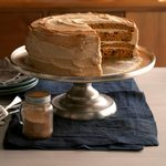 Pumpkin Cake with Whipped Cinnamon Frosting