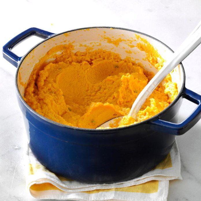 Lunch: Pumpkin & Cauliflower Garlic Mash