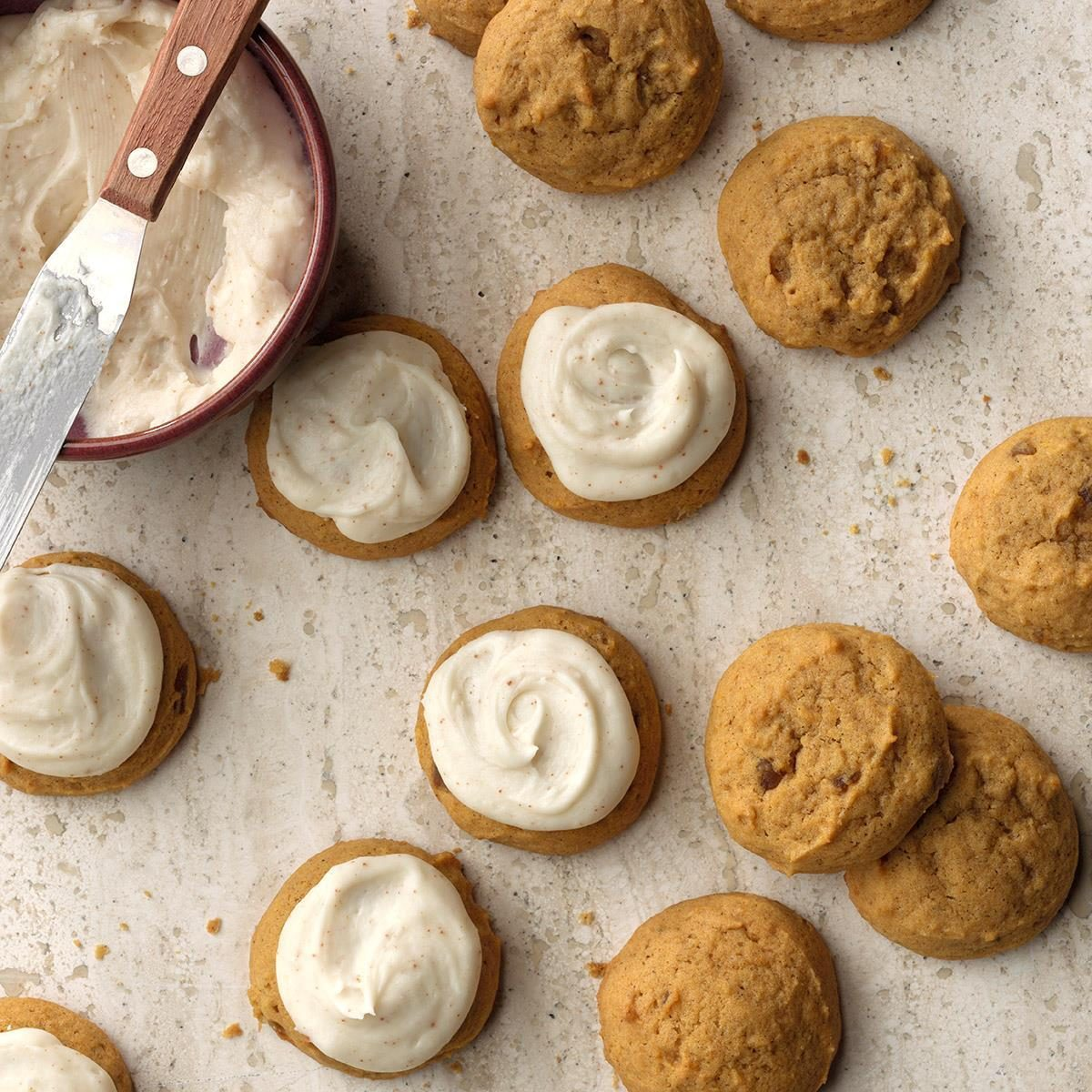 Pumpkin Cookies with Browned Butter Frosting