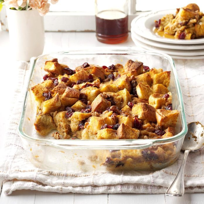 Pumpkin-Cranberry Breakfast Bake