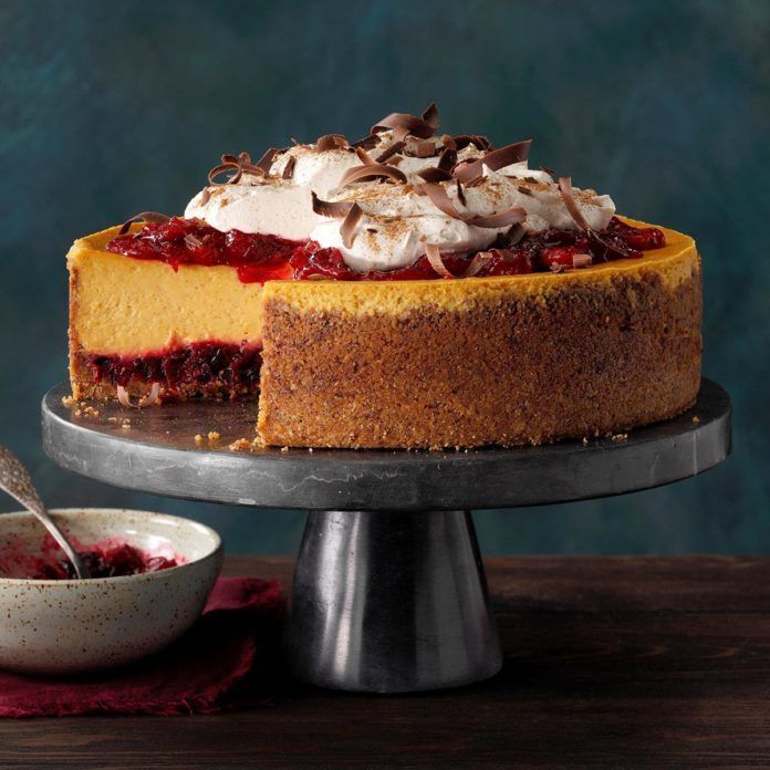 Pumpkin Cranberry Cheesecake