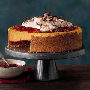 Pumpkin Cranberry Cheesecake
