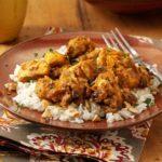Pumpkin-Curry Chicken over Cashew Rice