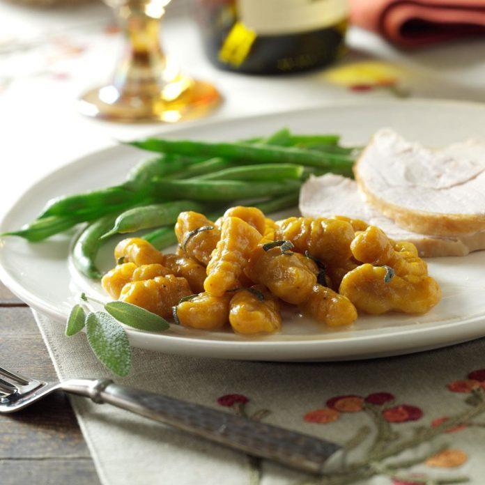 Pumpkin Gnocchi in Sage Butter