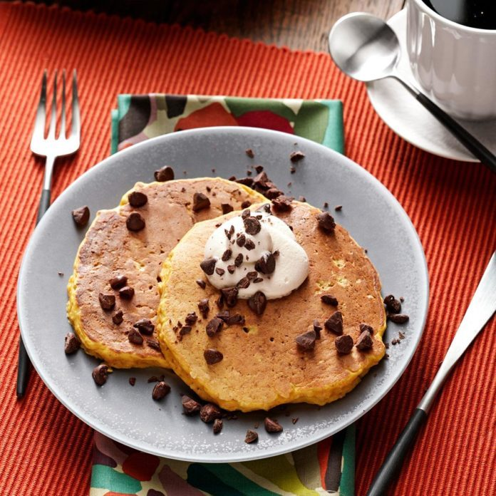 Pumpkin and Oat Pancakes