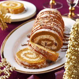 Pumpkin-Toffee Cake Roll
