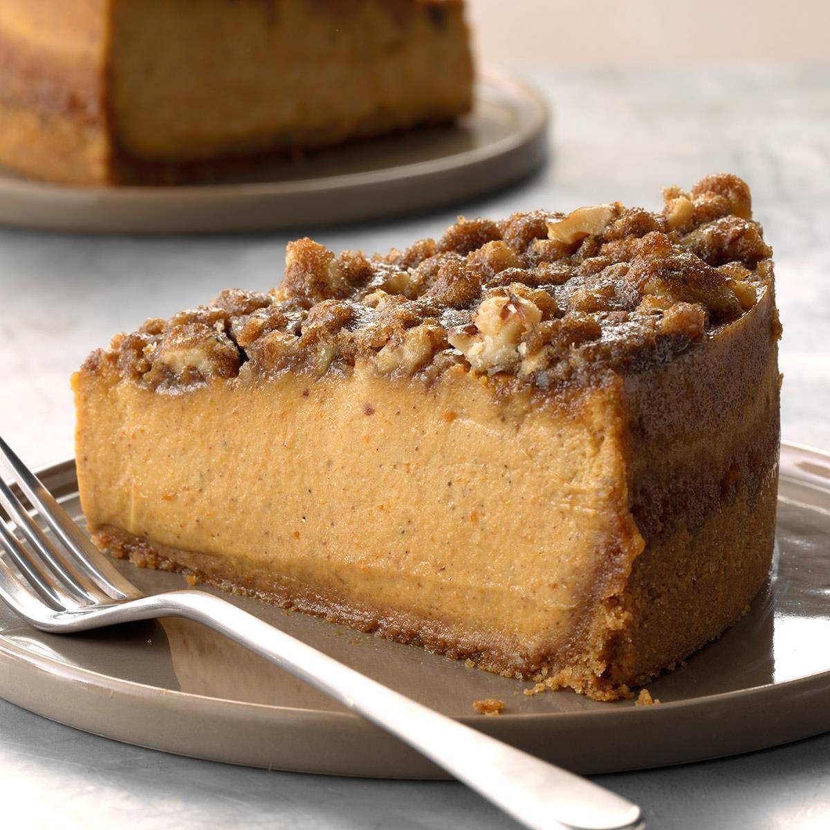 Pumpkin Walnut Cheesecake