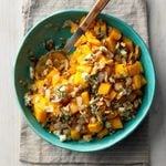 Pumpkin with Walnuts and Blue Cheese
