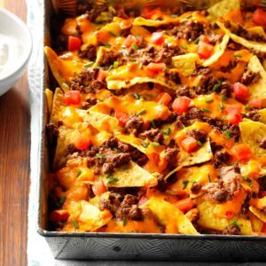 Queso Baked Nachos