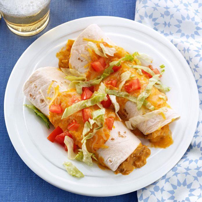 Queso Pork Enchiladas