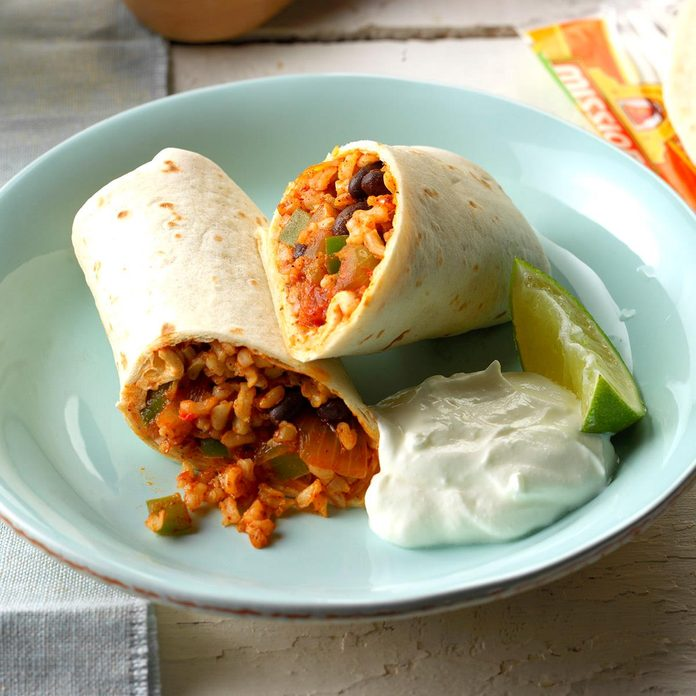 Inspired By: Cheesy Bean and Rice Burrito