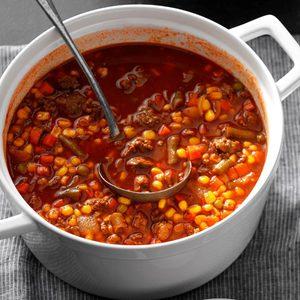 Quick Beef Vegetable Soup
