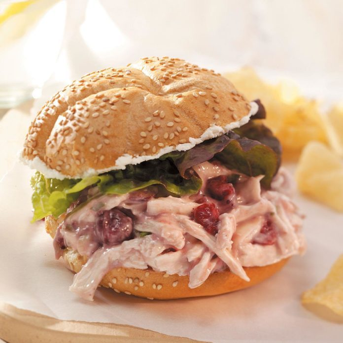 Quick Cranberry Chicken Salad Sandwiches