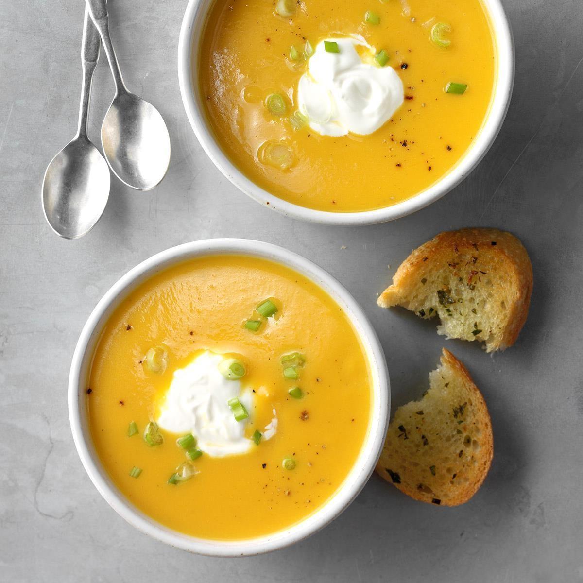 Iowa: Quick Golden Squash Soup