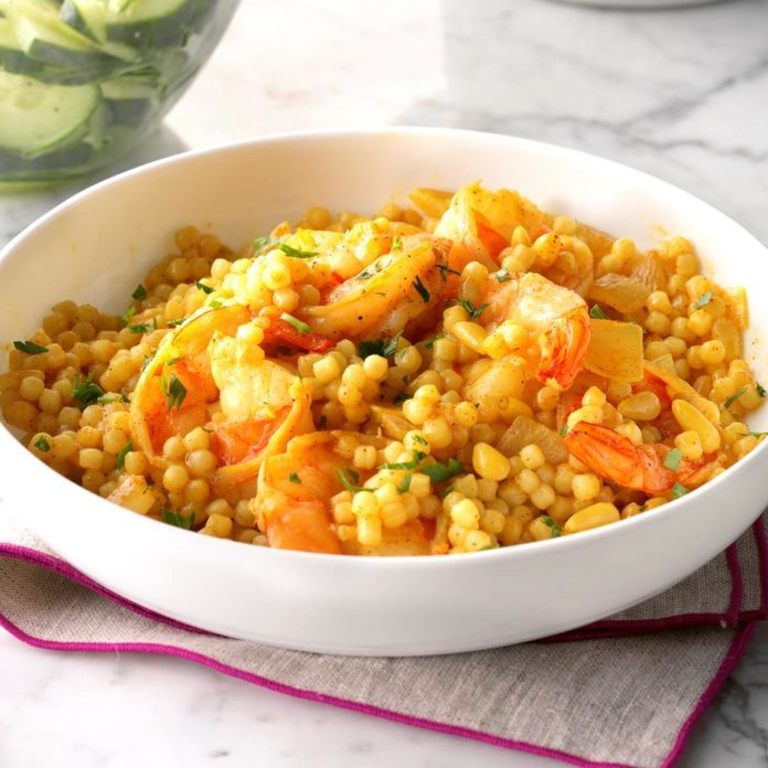 Quick Moroccan Shrimp Skillet