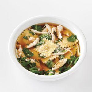 Quick Ravioli & Spinach Soup