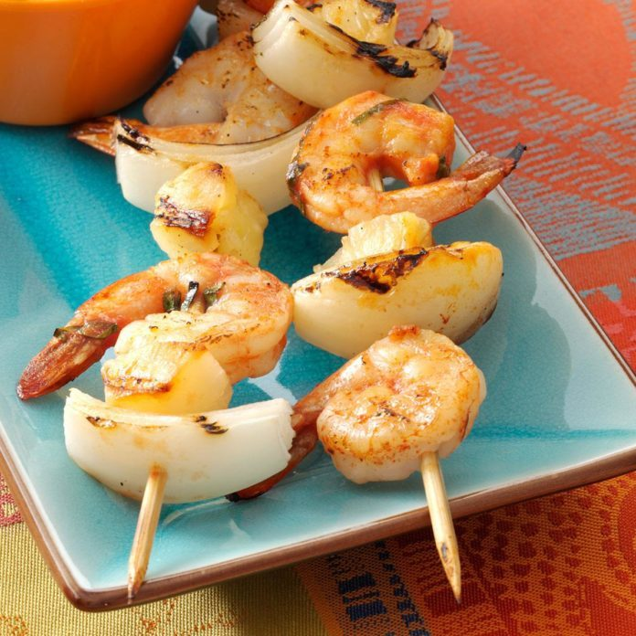 Quick Spicy Shrimp Kabobs