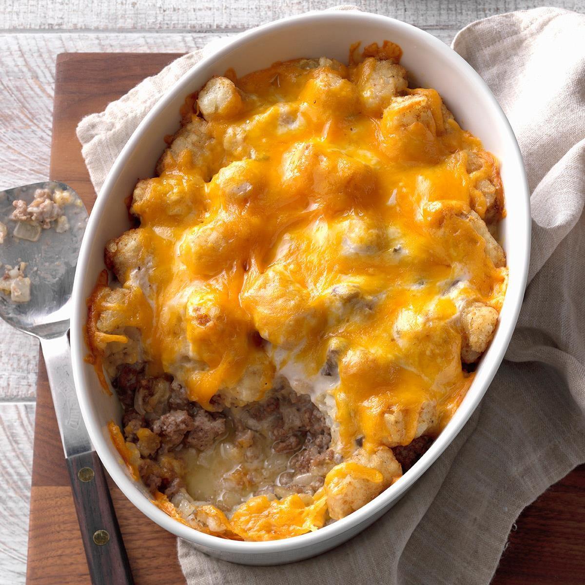 Quick Tater Tot Bake Recipe | Taste of Home
