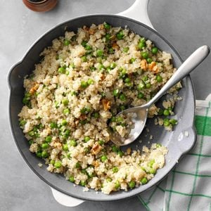 Quinoa with Peas and Onion