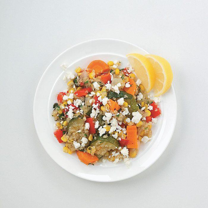 Quinoa with Roasted Veggies and Feta