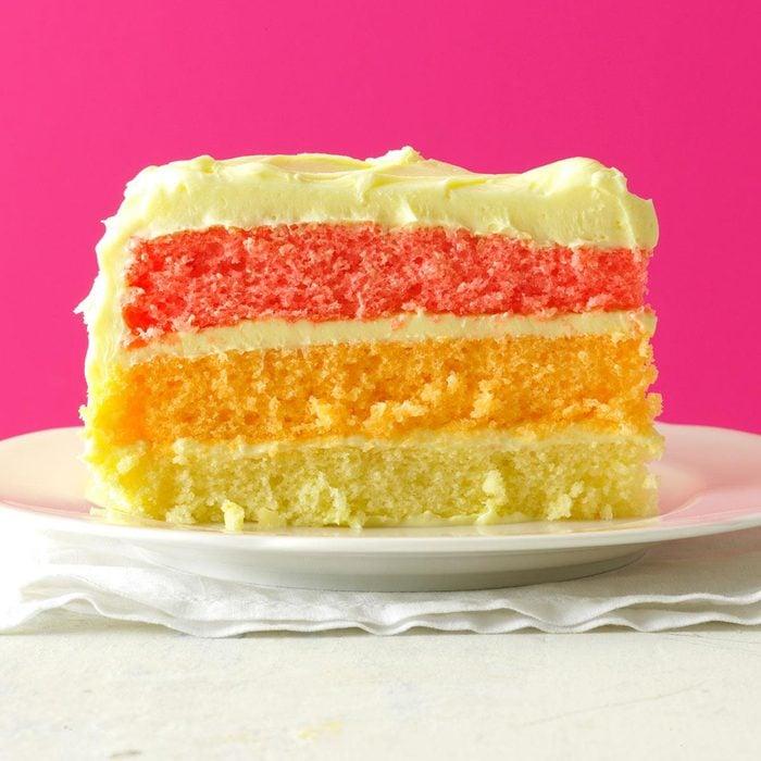 May Birthday: Rainbow Layer Cake