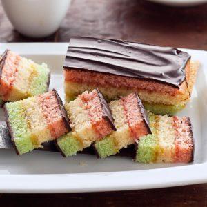 Rainbow Layered Cookies