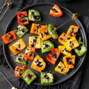 Rainbow Pepper Appetizers