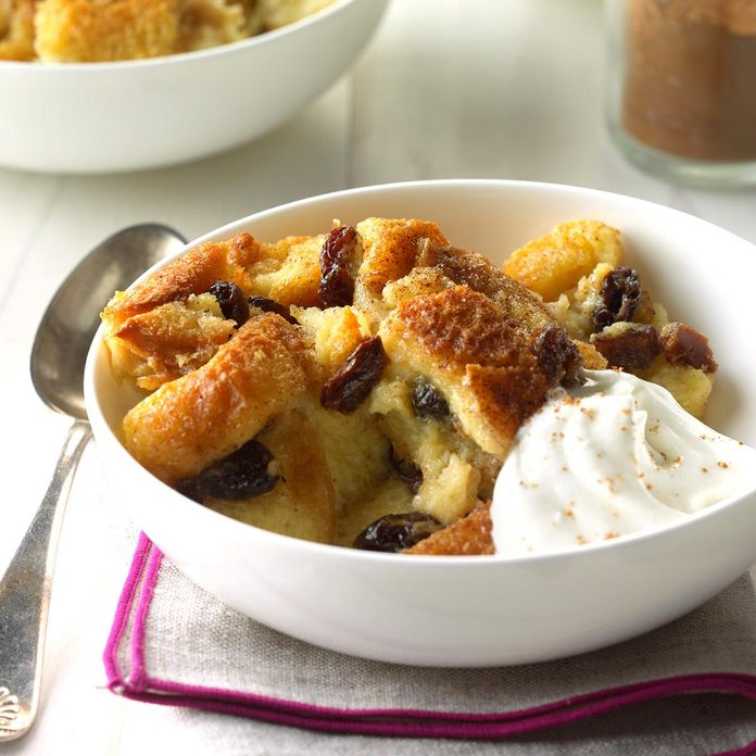 Raisin Date Bread Pudding