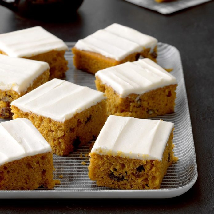 Raisin Pumpkin Bars