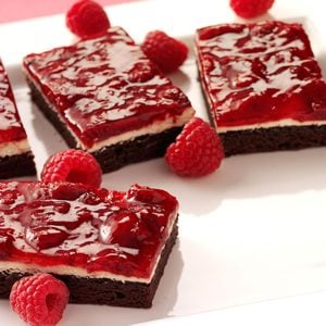 Raspberry Brownie Dessert