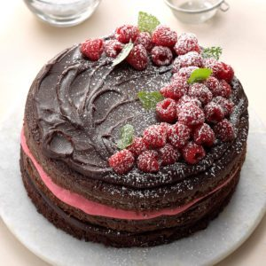 Raspberry Fudge Torte