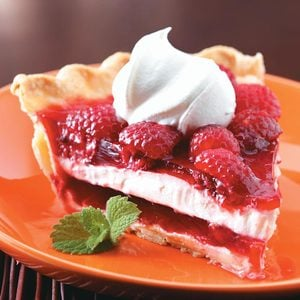 Raspberry Ribbon Pie