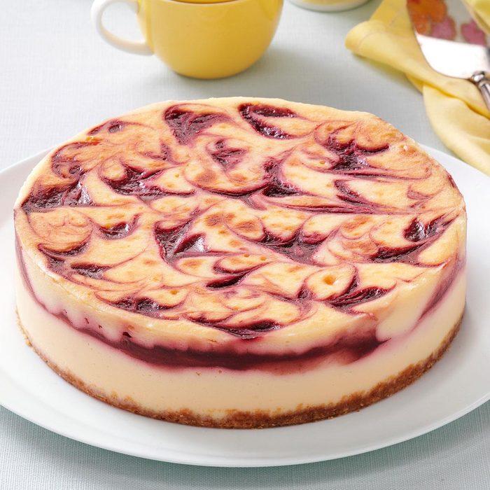Minnesota: Raspberry & White Chocolate Cheesecake