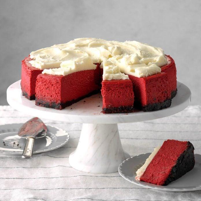 Dessert Course: Red Velvet Cheesecake