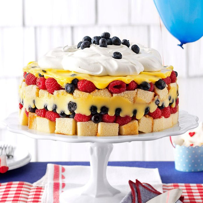 New Favorites: Red, White & Blue Berry Trifle