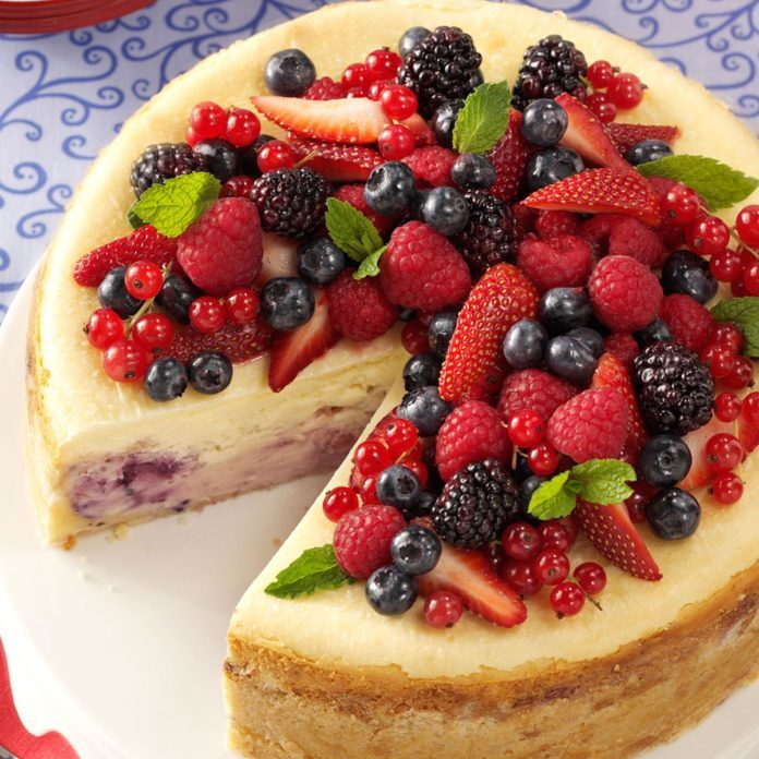 Inspired by: Red, White & Blue Cheesecake