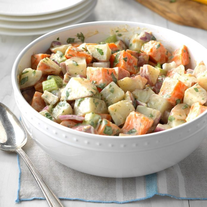 Red and Sweet Potato Salad