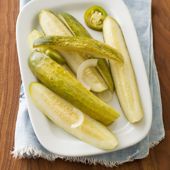 Refrigerator Jalapeno Dill Pickles
