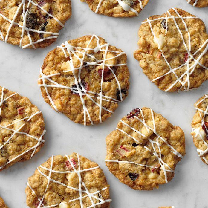 Rhubarb Cranberry Cookies