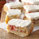 Rhubarb Custard Bars