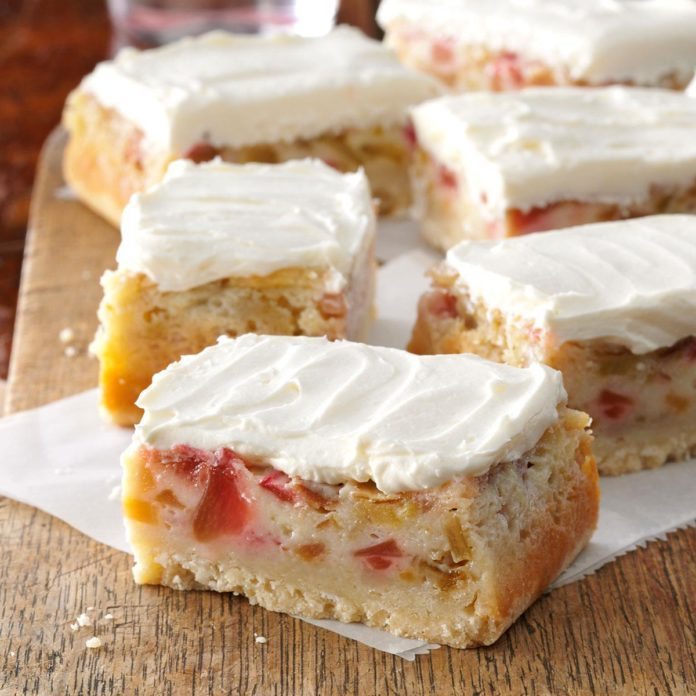 Wisconsin: Rhubarb Custard Bars