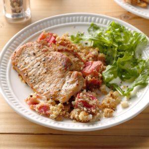 Rhubarb Pork Chop Casserole