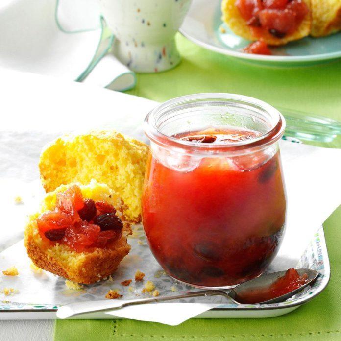 Rhubarb Raisin Marmalade