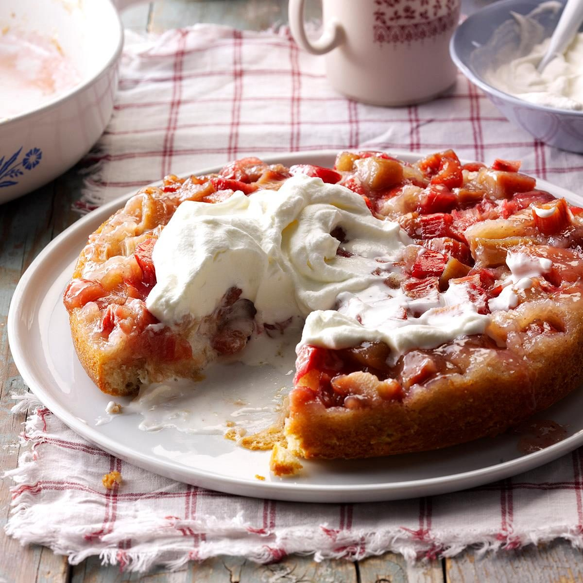 Rhubarb Upside-Down Cake