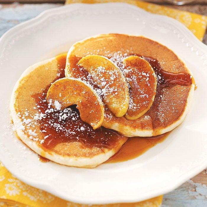 Ricotta Pancakes with Cinnamon Apples