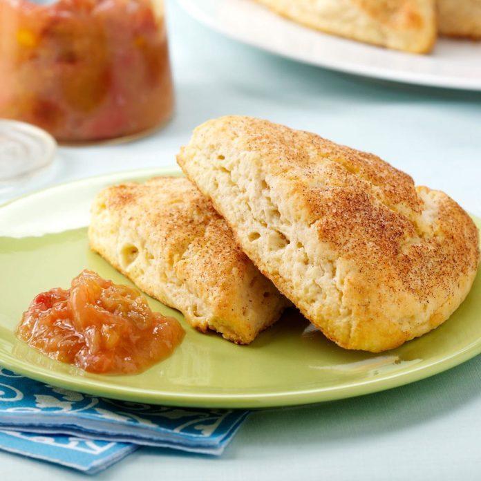 Ricotta Scones with Rhubarb-Orange Compote