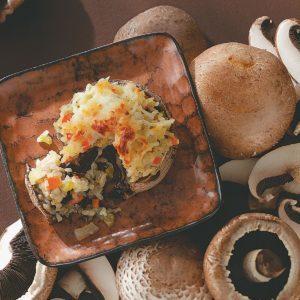 Risotto-Stuffed Portobellos